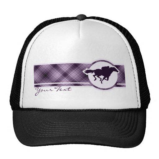 Purple Horse Racing Trucker Hat