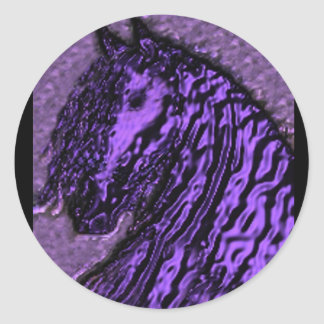 Purple Horse Stickers