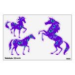 Purple Horses Blue Butterflies Room Graphic