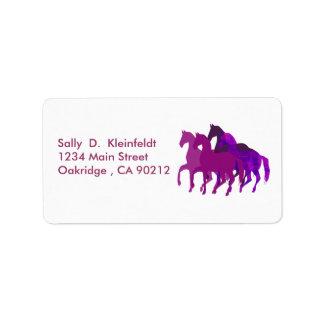 Purple Horses Fantasy Custom Address Labels