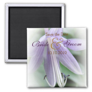 Purple Hosta Save-The-Date Magnet