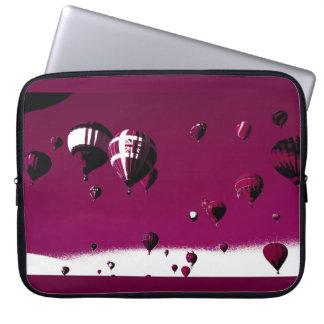 Purple Hot Balloon Art Poster Laptop Case