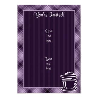 Purple Hot Coffee 5x7 Paper Invitation Card