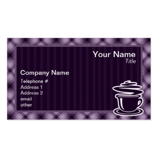 Purple Hot Coffee Double-Sided Standard Business Cards (Pack Of 100)