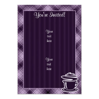Purple Hot Coffee Card