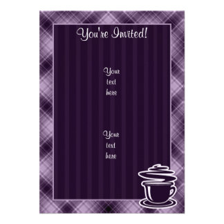 Purple Hot Coffee Personalized Announcement