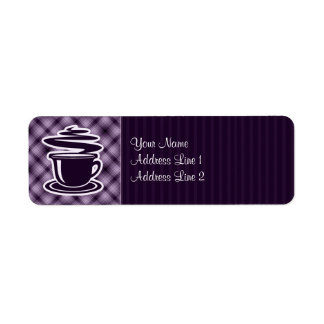 Purple Hot Coffee Return Address Label