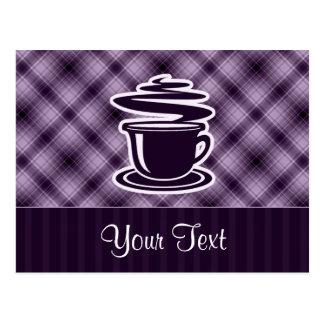 Purple Hot Coffee Postcard