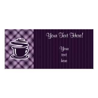 Purple Hot Coffee Personalized Rack Card