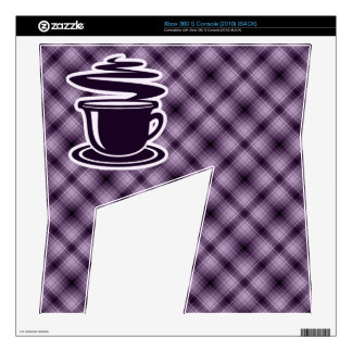 Purple Hot Coffee Decals For Xbox 360 S