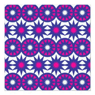 Purple Hot Pink Stars Circles Snowflakes Mandala Card