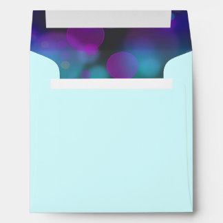 Purple Hot Pink Teal Blue Envelope