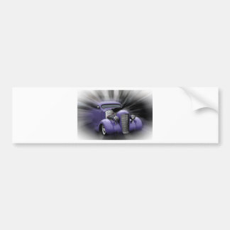 Purple Hot Rod Bumper Sticker