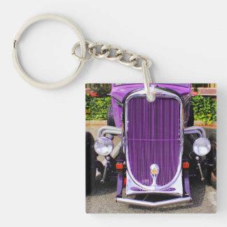 Purple Hot-Rod Keychain