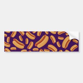 Purple hotdogs bumper sticker