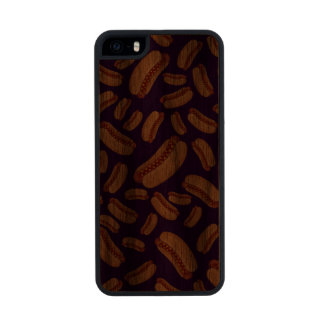 Purple hotdogs carved® walnut iPhone 5 slim case