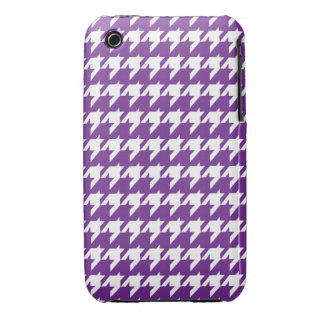Purple houndstooth Case-Mate iPhone 3 case