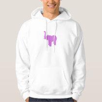 Purple Houndstooth Elephant Hoodie