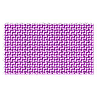 Purple Houndstooth Pattern Business Cards