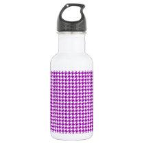 Purple Houndstooth Pattern Stainless Steel Water Bottle