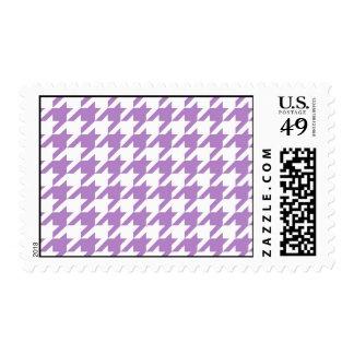 Purple Houndstooth Postage