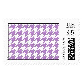 Purple Houndstooth Stamp
