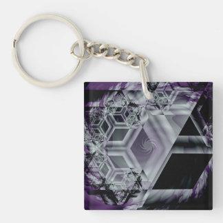Purple Hue Acrylic Keychain
