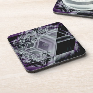 Purple Hue Cork Coaster