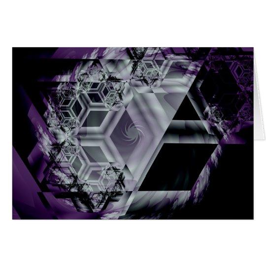 Purple Hue Greetinig Card