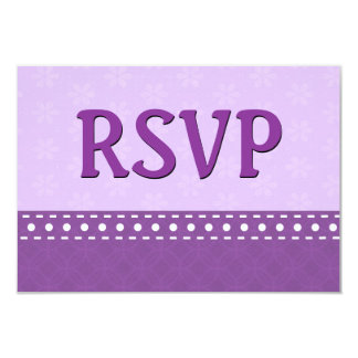 Purple Hues RSVP Stitches Polka Dots V11B Card