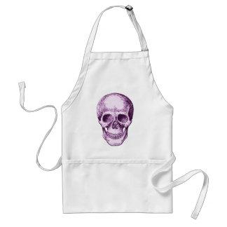 Purple Human Skull Adult Apron