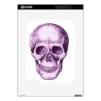 Purple Human Skull iPad 2 Decals