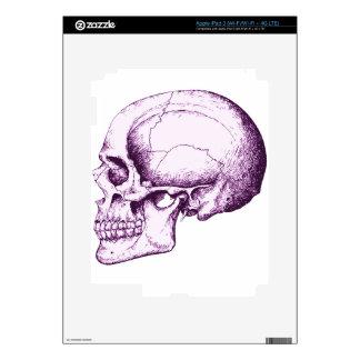 Purple Human Skull iPad 3 Decals