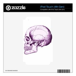 Purple Human Skull iPod Touch 4G Skin