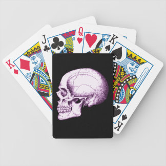 Purple Human Skull Side Bicycle Playing Cards