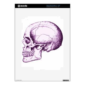 Purple Human Skull. Side Decal For iPad 2