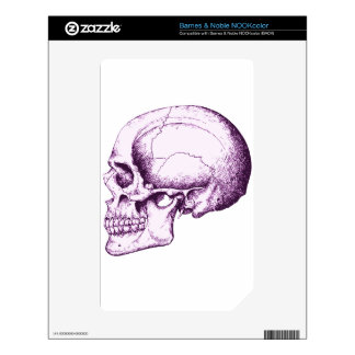 Purple Human Skull. Side NOOK Color Skin