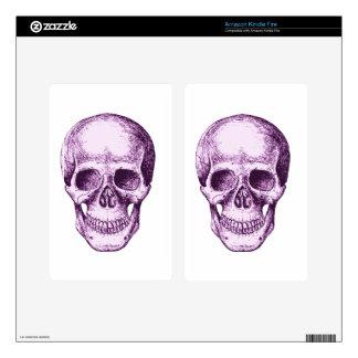 Purple Human Skull Kindle Fire Skin