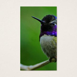 Purple Hummingbird Business Card