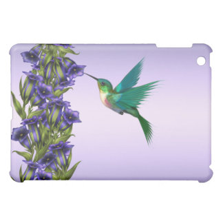 Purple Hummingbird Crystal Violets  iPad Mini Cover