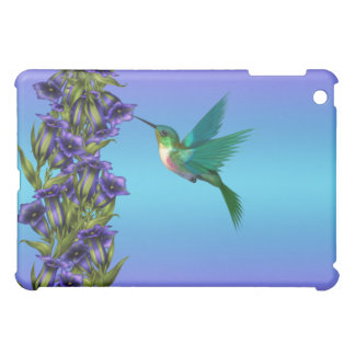 Purple Hummingbird Gentian Crystal Violet Cas Case For The iPad Mini