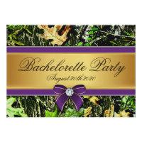 Purple Hunting Camo Bachelorette Party Invitations (<em>$1.90</em>)