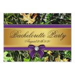 Purple Hunting Camo Bachelorette Party Invitations