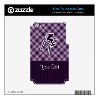 Purple Hurdler Skins For iPod Touch 4G