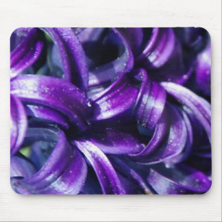 Purple Hyacinth Flower Mouse Pad