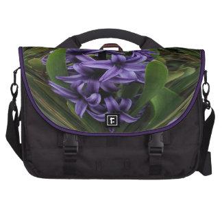 Purple Hyacinth Laptop Commuter Bag