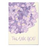 Purple Hydrangea Art Monogrammed Thank You Cards Announcement
