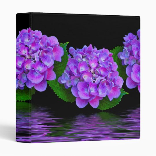 Purple Hydrangea Blooms Binder
