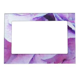 Purple Hydrangea Blossoms Magnetic Photo Frame