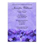 Purple Hydrangea Bridal Shower Invitation